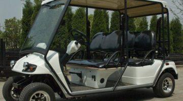 Urbasolar équipe le site de la centrale solaire de gca de 2 golfettes eagle 4 places
