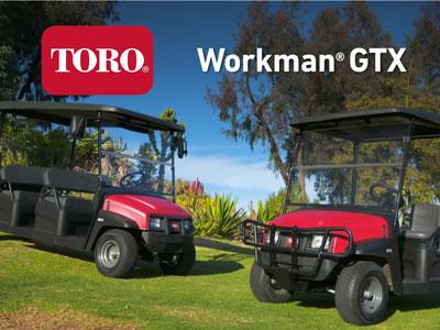 utilitaire électrique toro workman gtx 4 places plateau